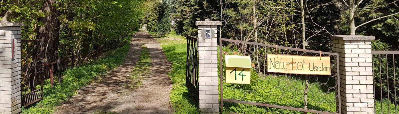 Einfahrt Naturhof Usedom