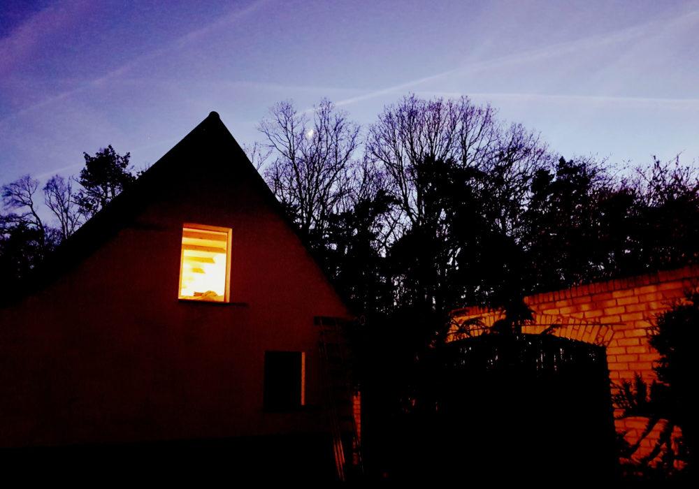 Blick auf die Galerie bei Nacht Fewo 3 Naturhof Usedom