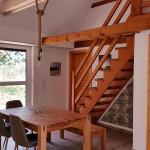 Blick auf die Treppe in die Galerie Fewo 3 Naturhof Usedom